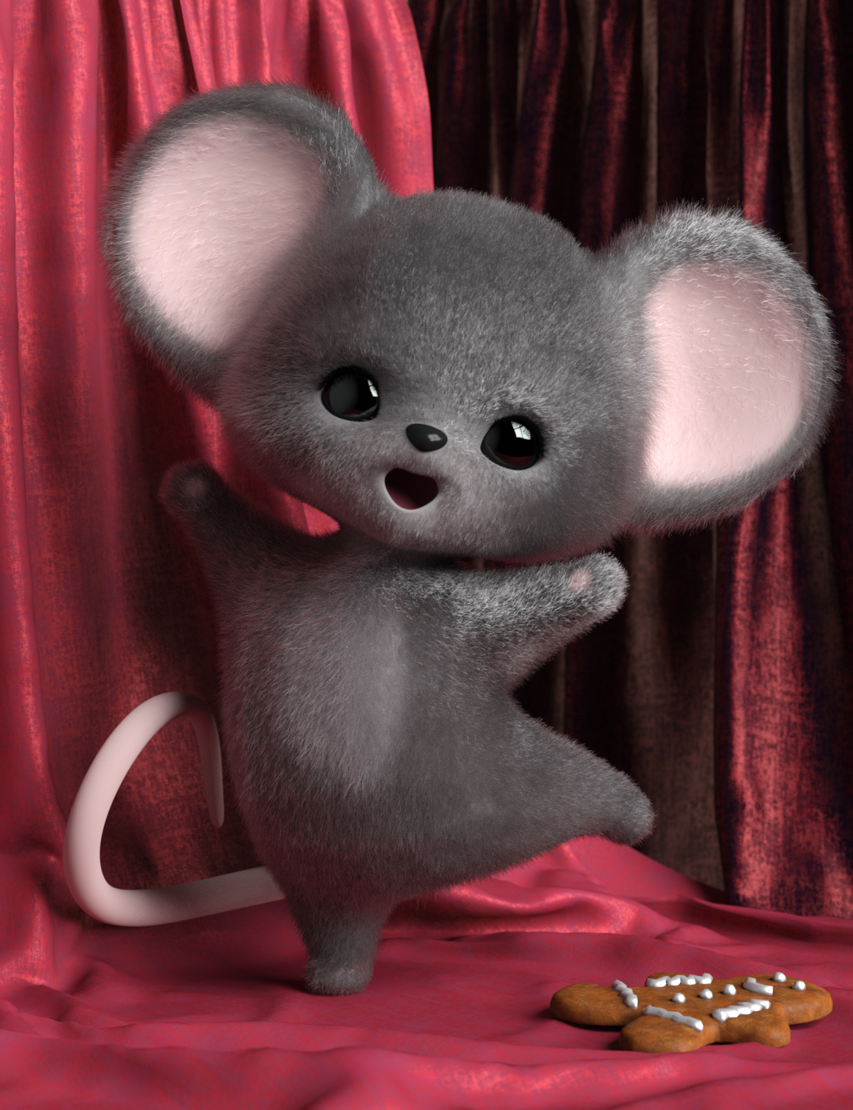 Mousie for Ping the Ringtail by: Quixotry, 3D Models by Daz 3D
