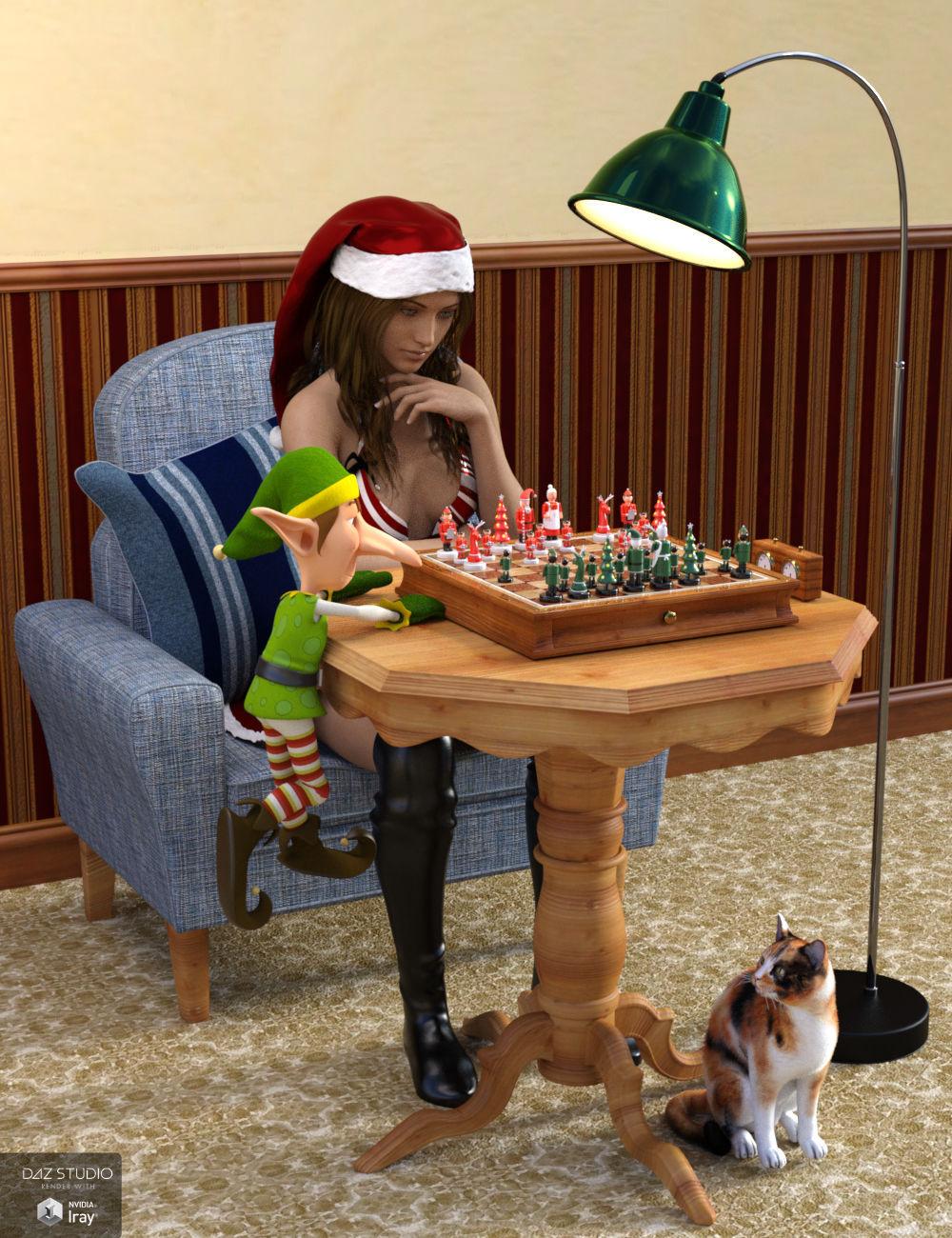 Santa's Chess Set by: Wee Dangerous John, 3D Models by Daz 3D