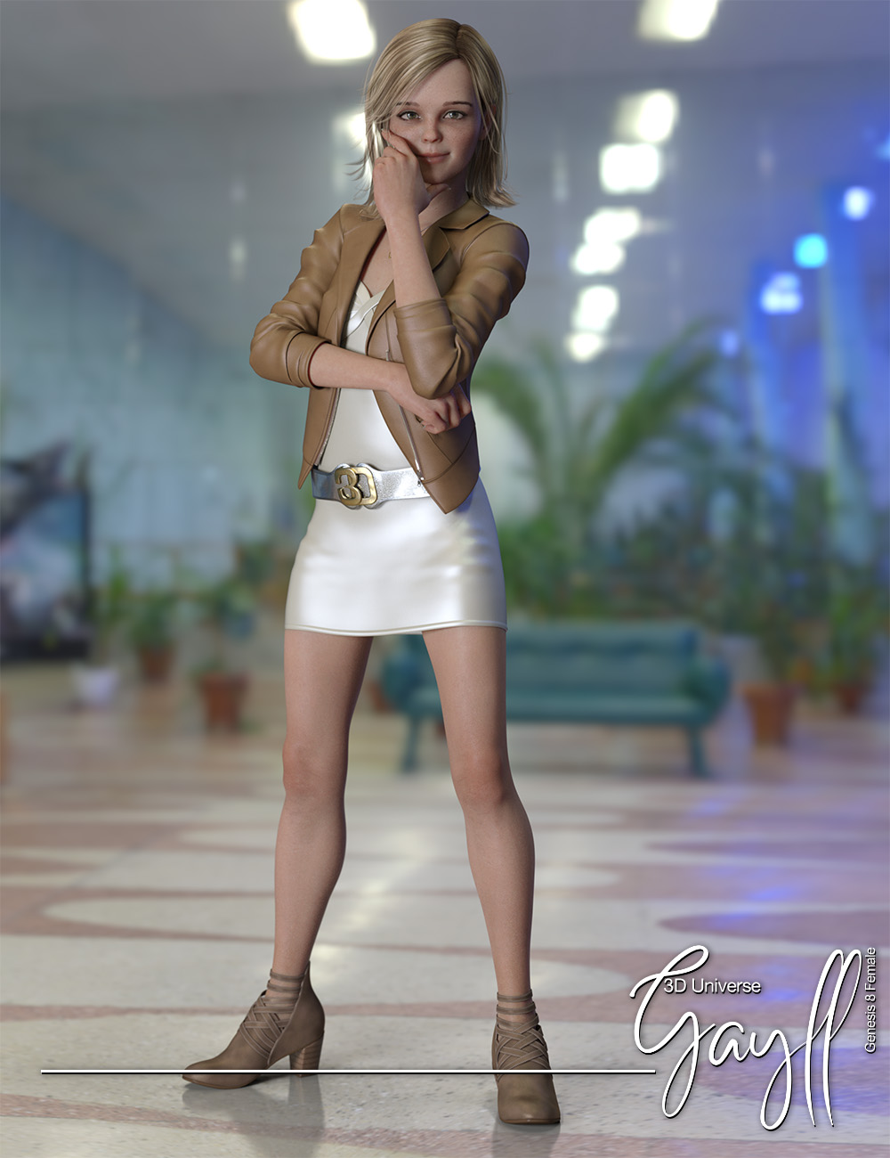 Gayll Clothing and Accessories for Genesis 8 Female(s) by: 3D Universe, 3D Models by Daz 3D