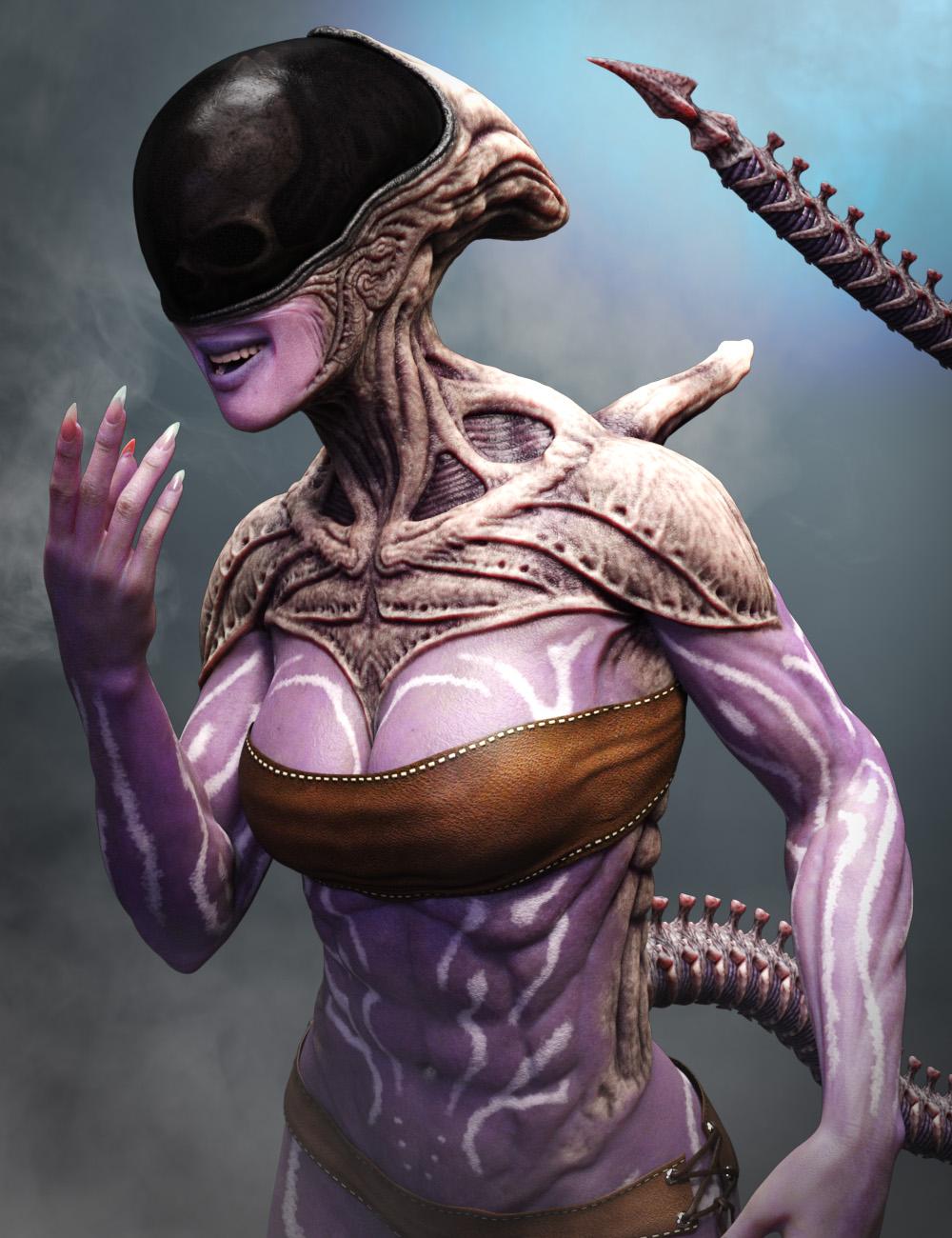 Mysterious Alien HD for Genesis 8 Female by: JoLab1985, 3D Models by Daz 3D