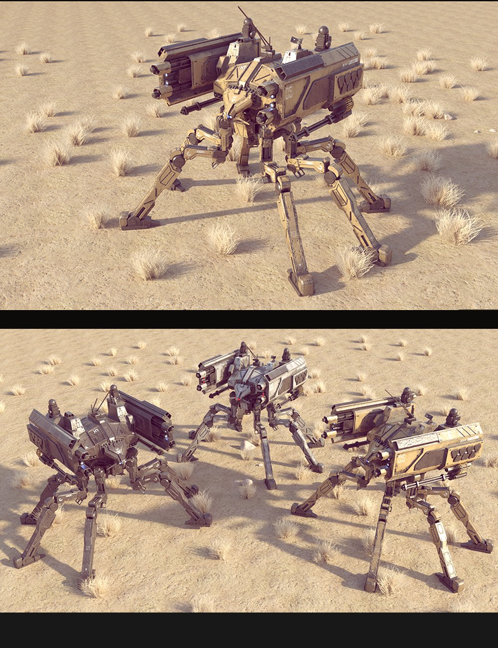 Sci-Fi  SS Spider Mecha by: Polish, 3D Models by Daz 3D