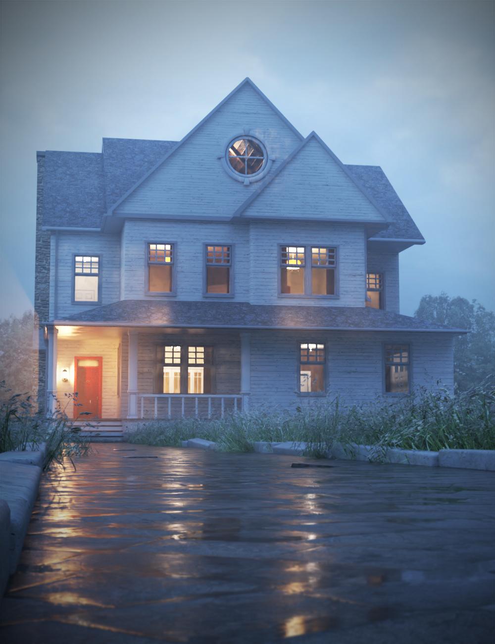 Harwood House by: KindredArts, 3D Models by Daz 3D