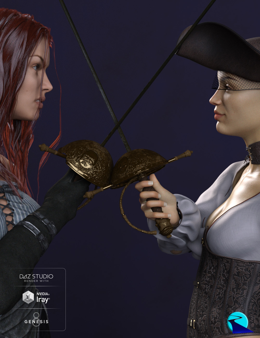 Props & Poses Converter from Genesis 3 Female to Genesis 8 Female by: RiverSoft Art, 3D Models by Daz 3D