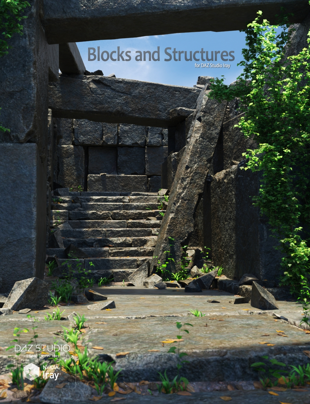 Blocks and Structures by: Andrey Pestryakov, 3D Models by Daz 3D