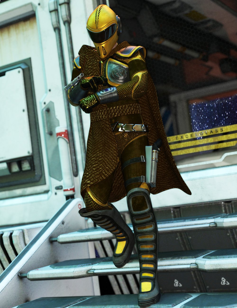 Space Trotter Outfit for Genesis 8 Male(s) by: Larisha, 3D Models by Daz 3D