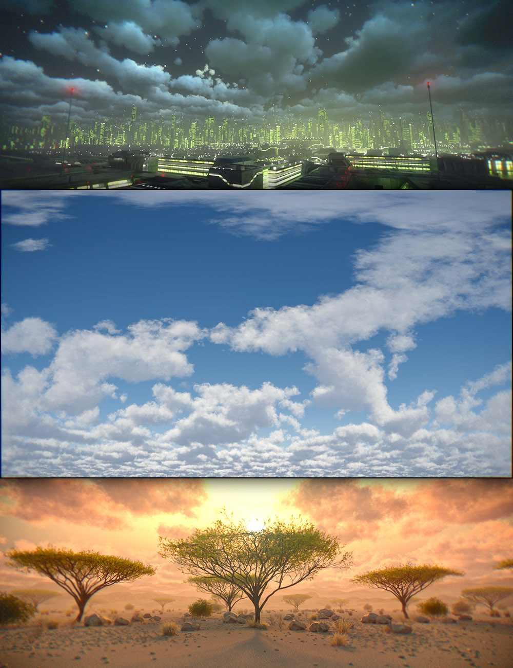 Cloudscape Creator - Sky Cover for Iray by: DimensionTheory, 3D Models by Daz 3D