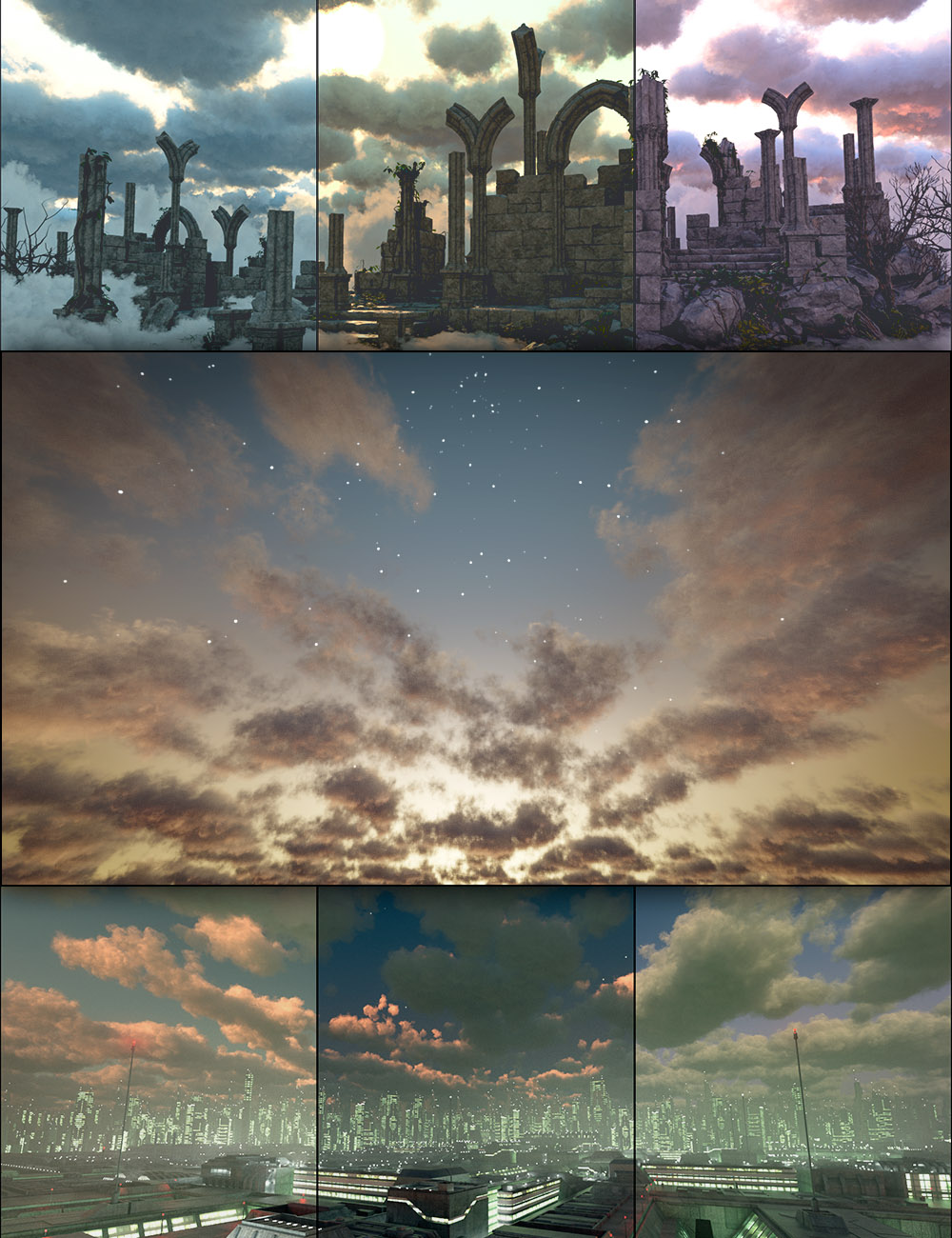 Cloudscape Creator - Bare Sky HDRIs for Iray by: DimensionTheory, 3D Models by Daz 3D