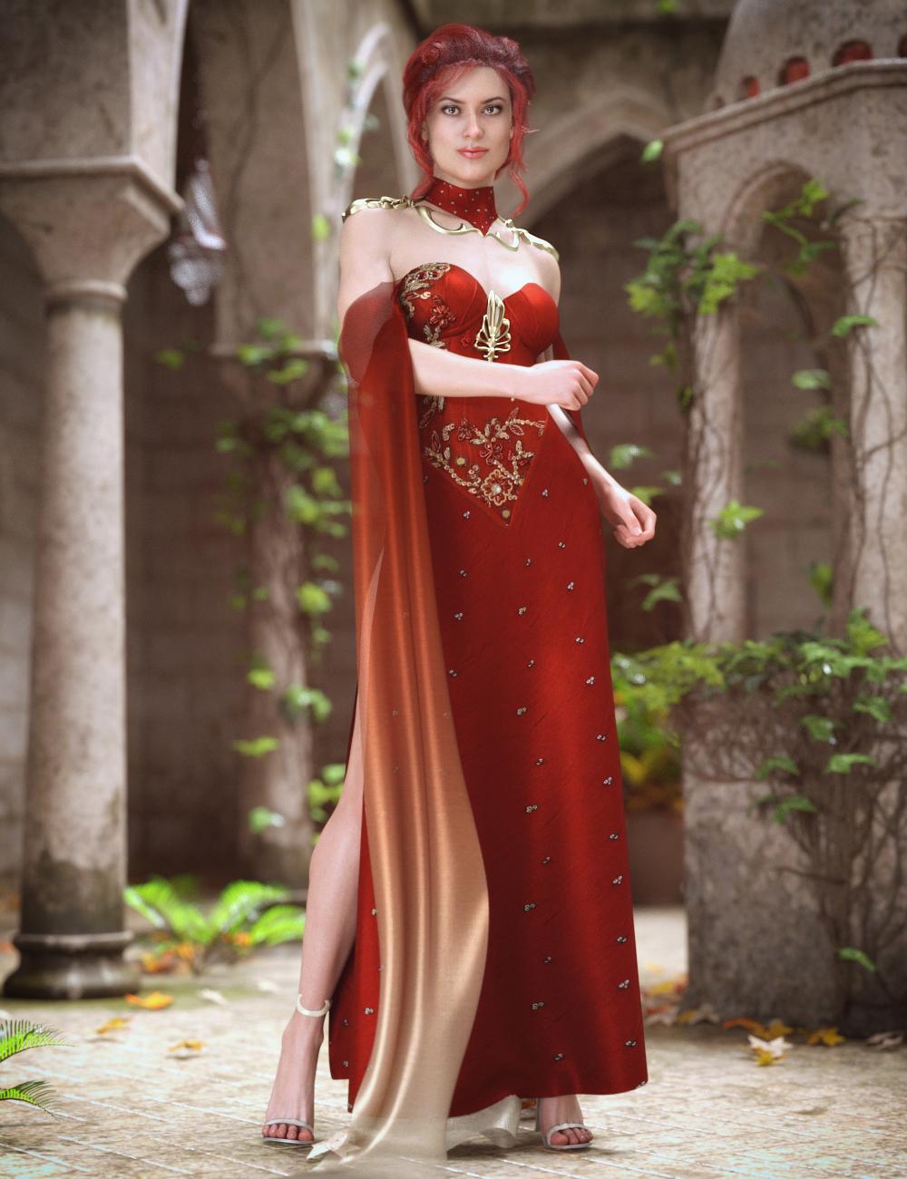 dForce Fantasy Cape Outfit for Genesis 8 Female(s) by: NikisatezSarsa, 3D Models by Daz 3D