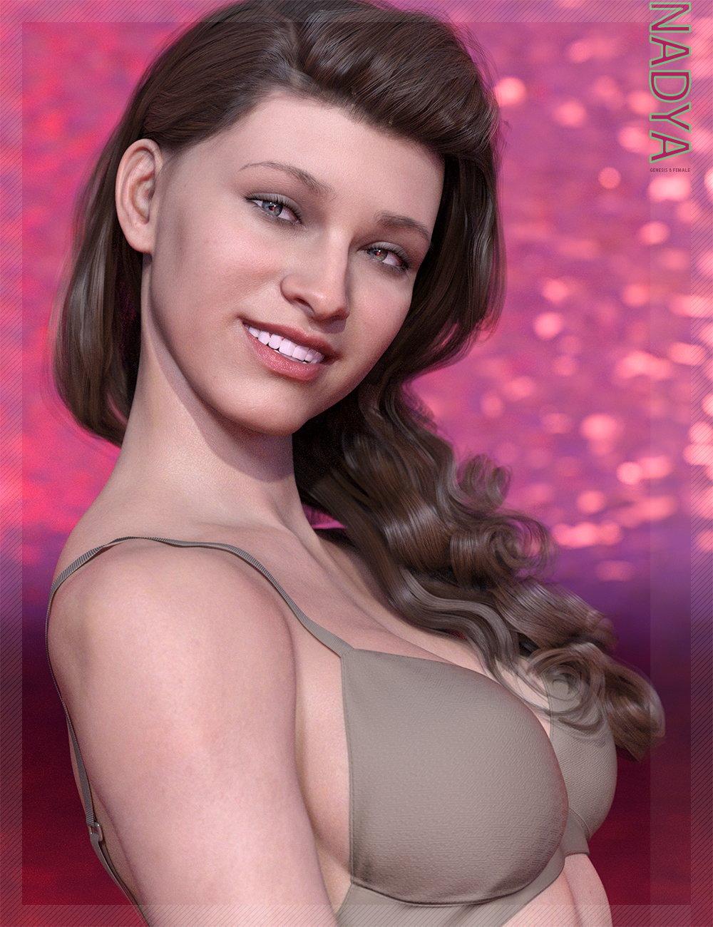 Nadya HD & Smile HD Expression for Genesis 8 Female by: bluejaunte, 3D Models by Daz 3D