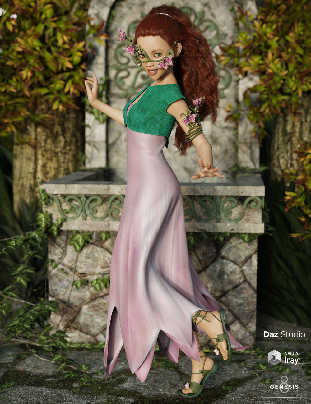 dForce Chrysalis Outfit for Genesis 8 Female(s) by: Mada, 3D Models by Daz 3D