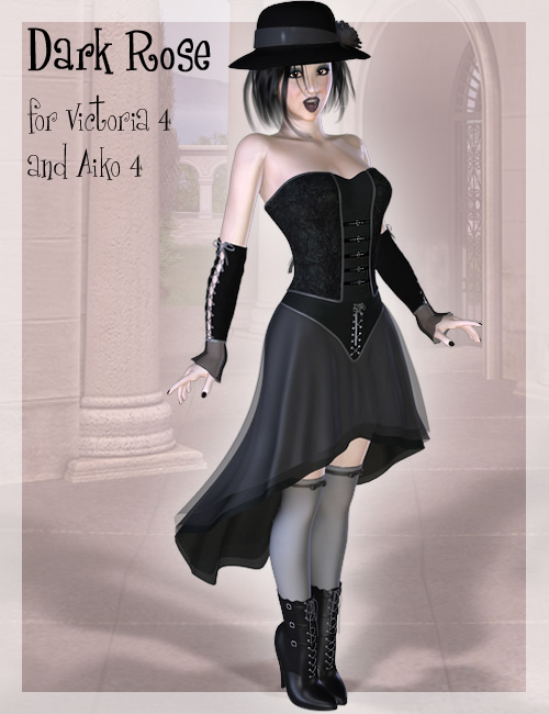 BRC - Dark Rose for V4 and A4 by: Ravenhair, 3D Models by Daz 3D