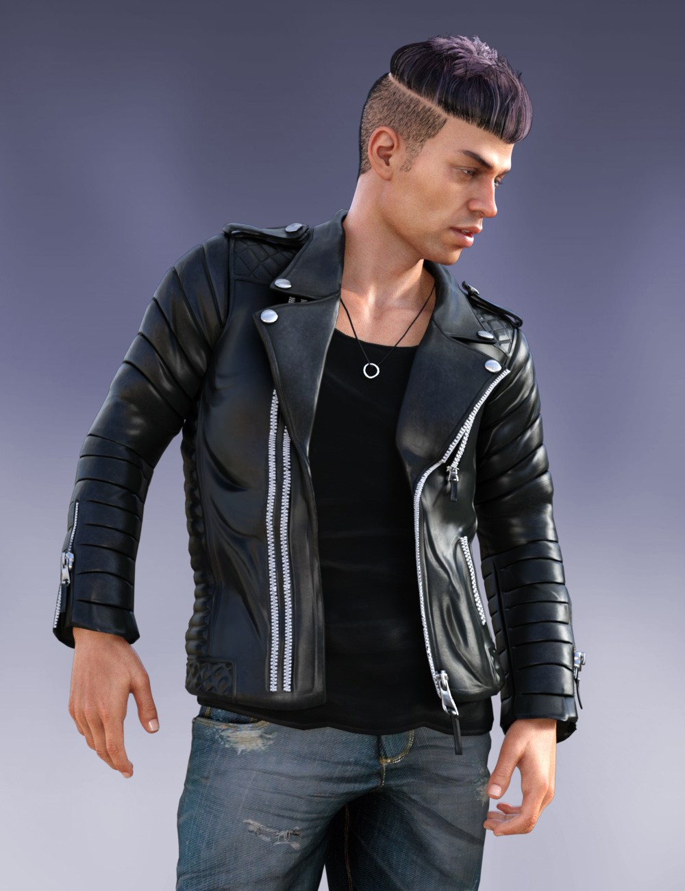 Pop Star Outfit and Hair for Diego 8 and Genesis 8 Male(s) by: , 3D Models by Daz 3D