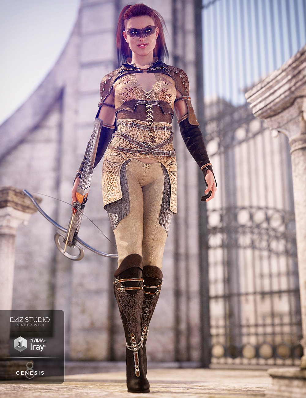 Blood Oath Outfit for Genesis 8 Female(s) by: Barbara BrundonShox-Design, 3D Models by Daz 3D