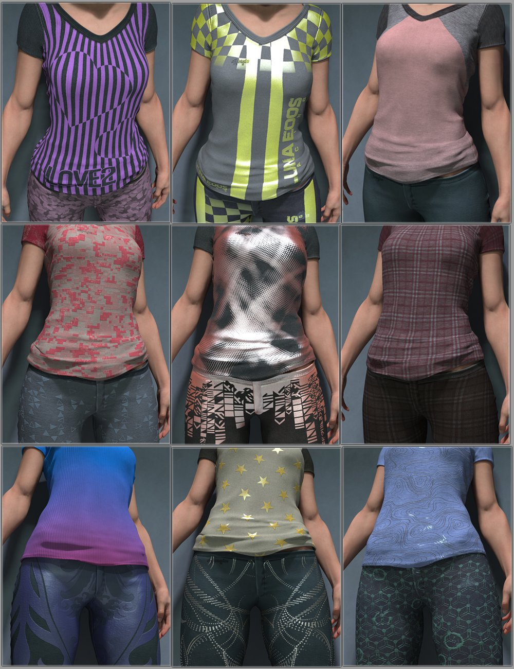 Customize vol 1 for Everyday 2 by: Aeon Soul, 3D Models by Daz 3D