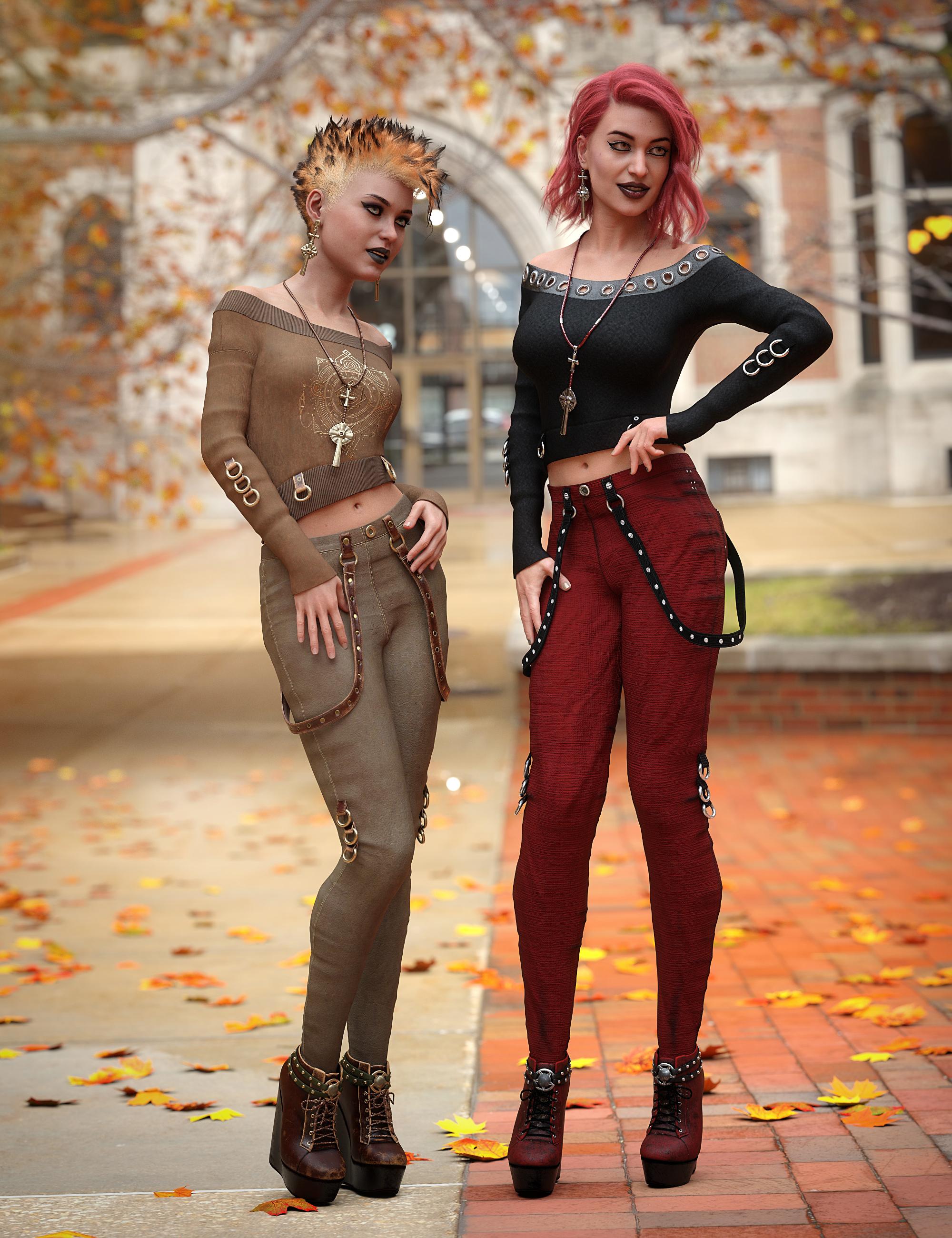 dForce Raven Black Outfit Textures by: 3D-GHDesignSade, 3D Models by Daz 3D