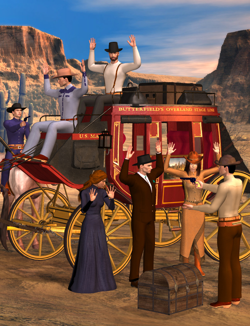 Stagecoach Hold-Up by: Don Albert, 3D Models by Daz 3D