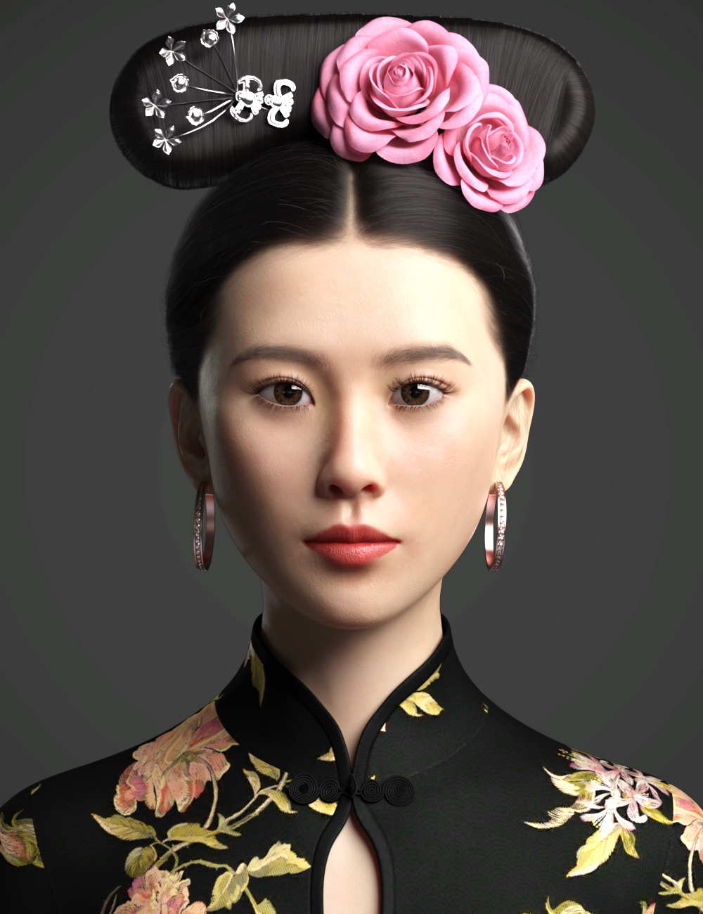 Cecilia Lau Character and Hair For Genesis 8 Female(s) by: WindField, 3D Models by Daz 3D