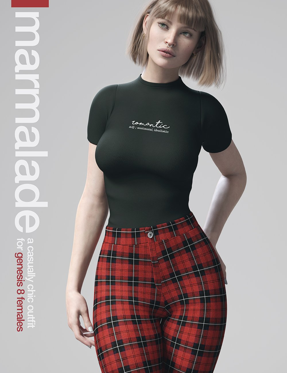 dForce Marmalade Outfit for Genesis 8 Female(s) by: peache, 3D Models by Daz 3D