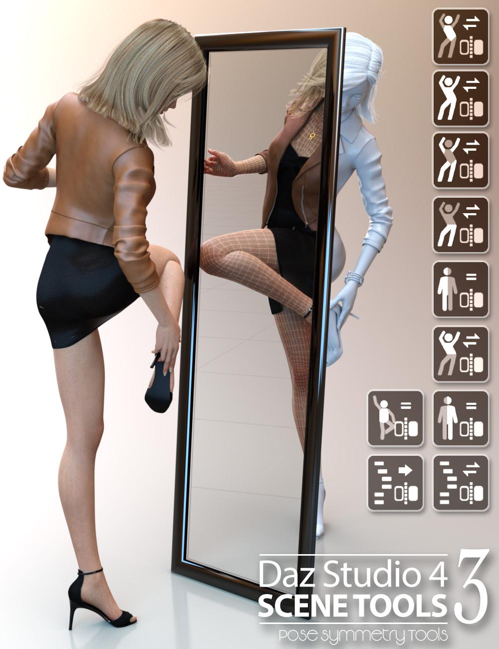Daz Studio 4 Scene Tools Set 3 - Pose Symmetry by: 3D Universe, 3D Models by Daz 3D