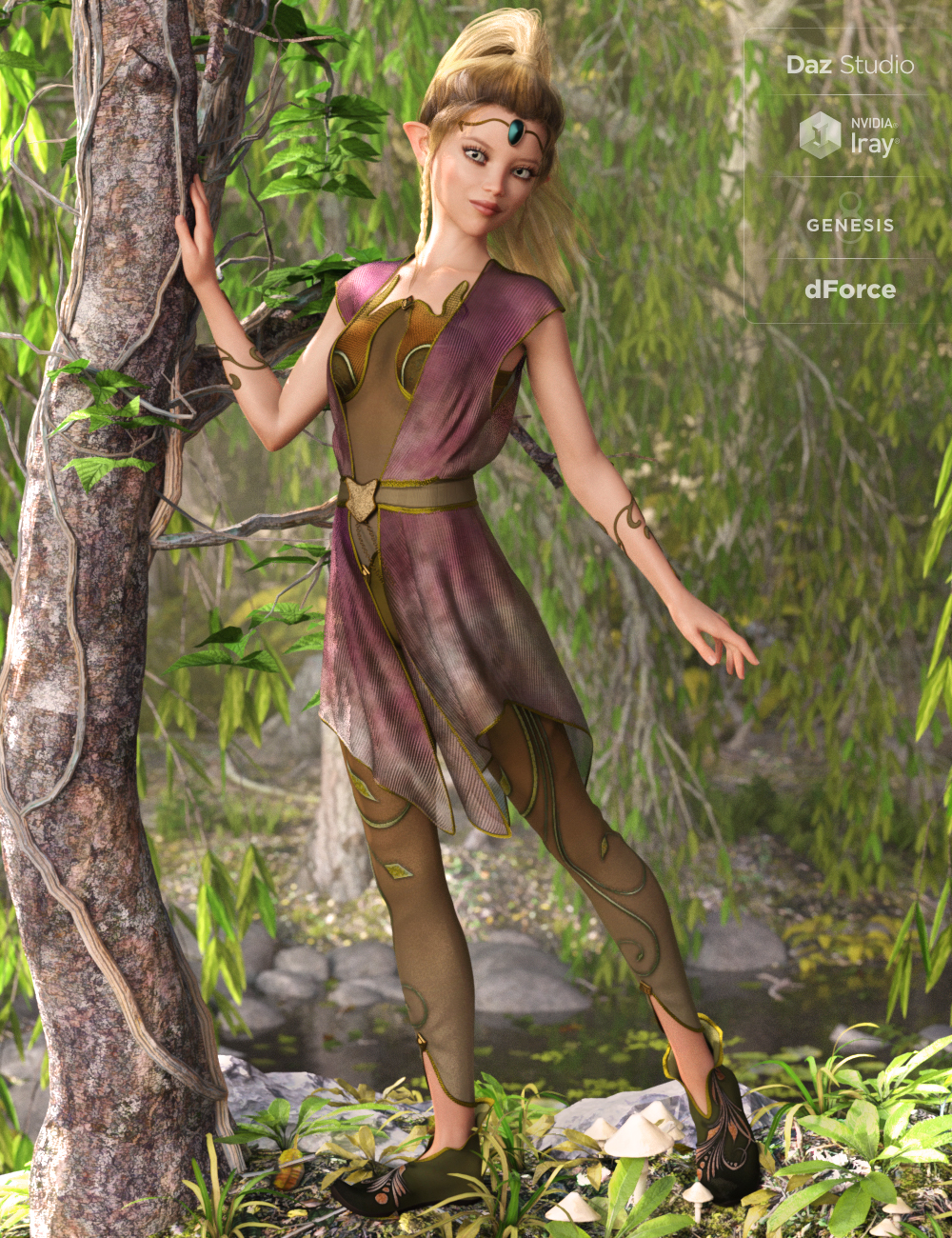 Woodland Dweller for Genesis 8 Female(s) by: Ravenhair, 3D Models by Daz 3D