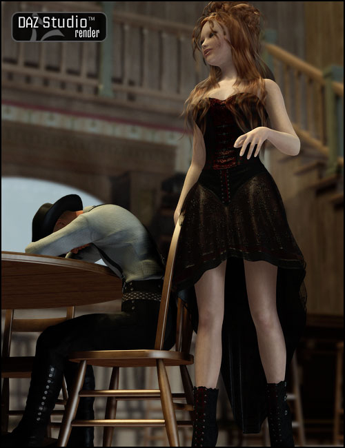 Saloon Action by: Don Albert, 3D Models by Daz 3D