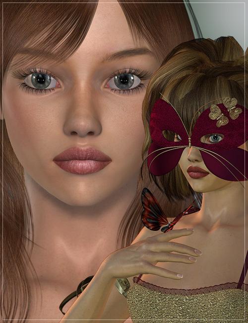 Teagan and Nymph Dress for V4 by: MadaThorneSarsa, 3D Models by Daz 3D