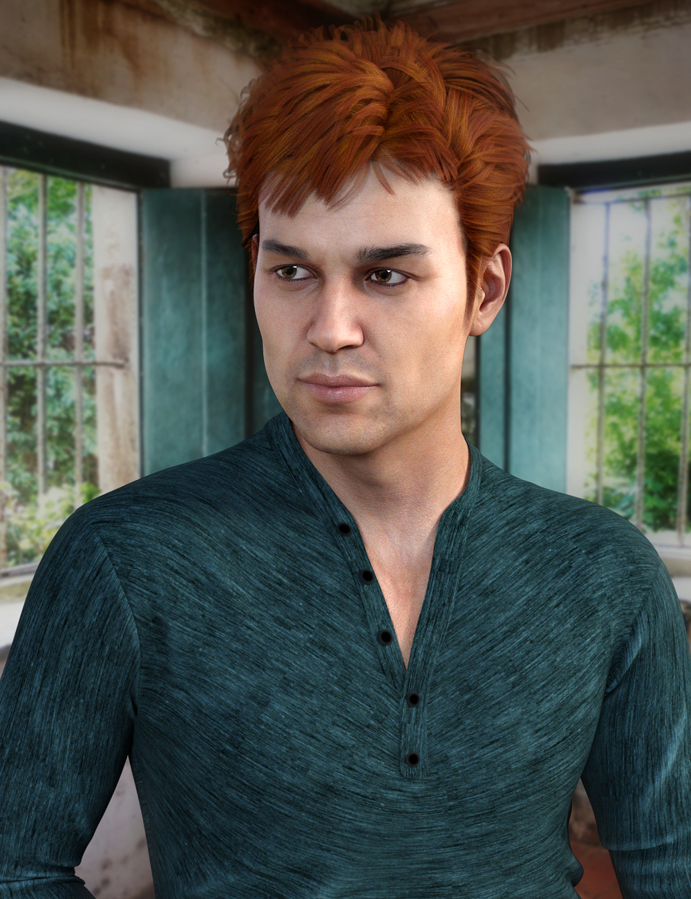 Clifford Hair for Genesis 8 Male(s) by: Propschick, 3D Models by Daz 3D