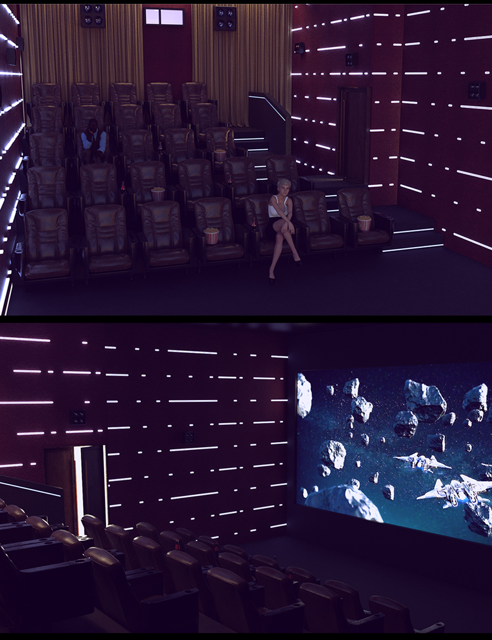 Weekend Movie Theater by: Polish, 3D Models by Daz 3D