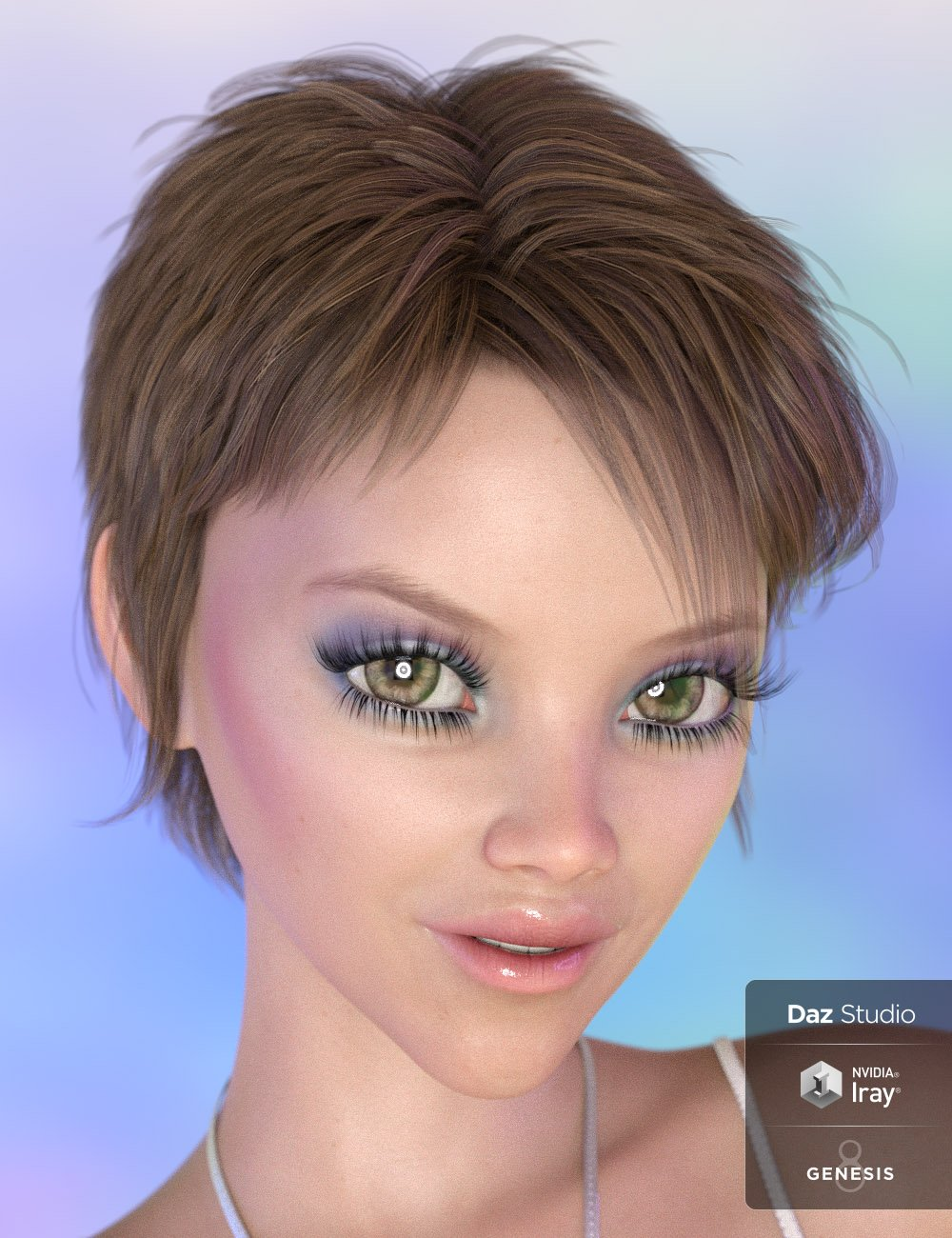 Itsy Hair for Genesis 8 and Genesis 3 Female(s) by: 3DCelebrity, 3D Models by Daz 3D