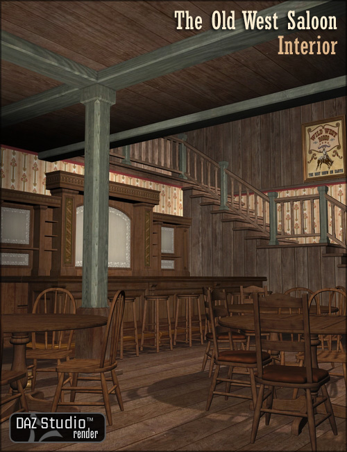 The Old West Saloon Interior by: , 3D Models by Daz 3D