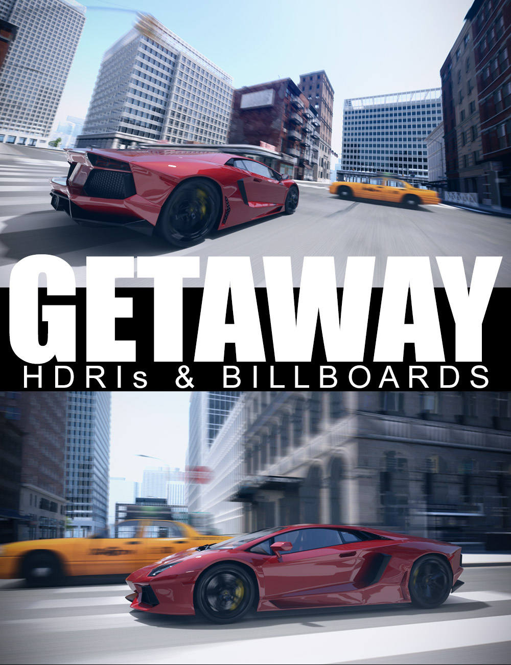 Getaway - HDRIs and Billboards by: Dreamlight, 3D Models by Daz 3D