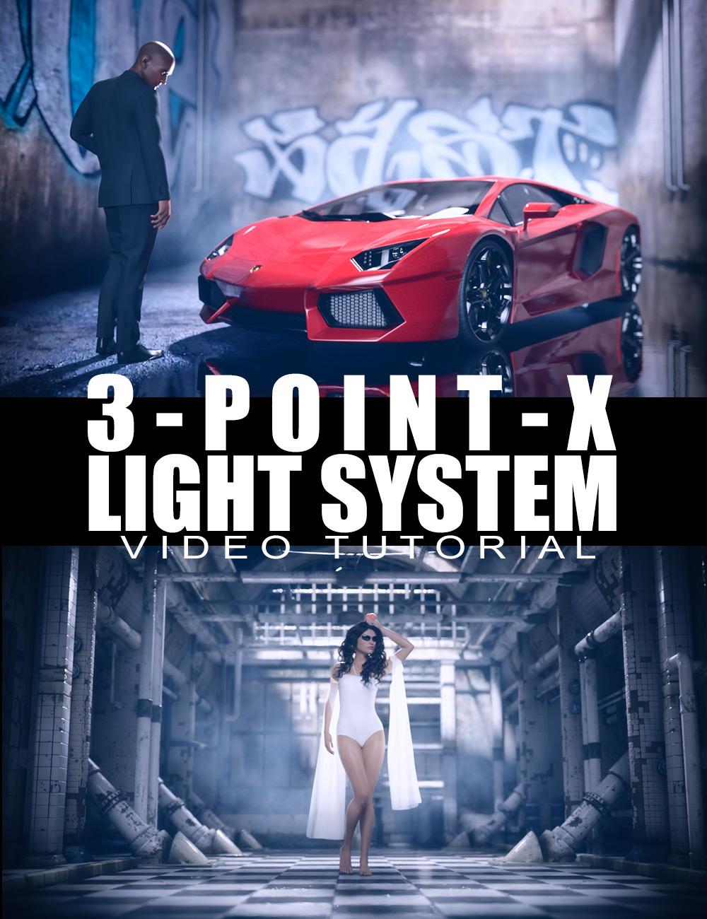 3 Point X Light System - Video Tutorial by: Dreamlight, 3D Models by Daz 3D