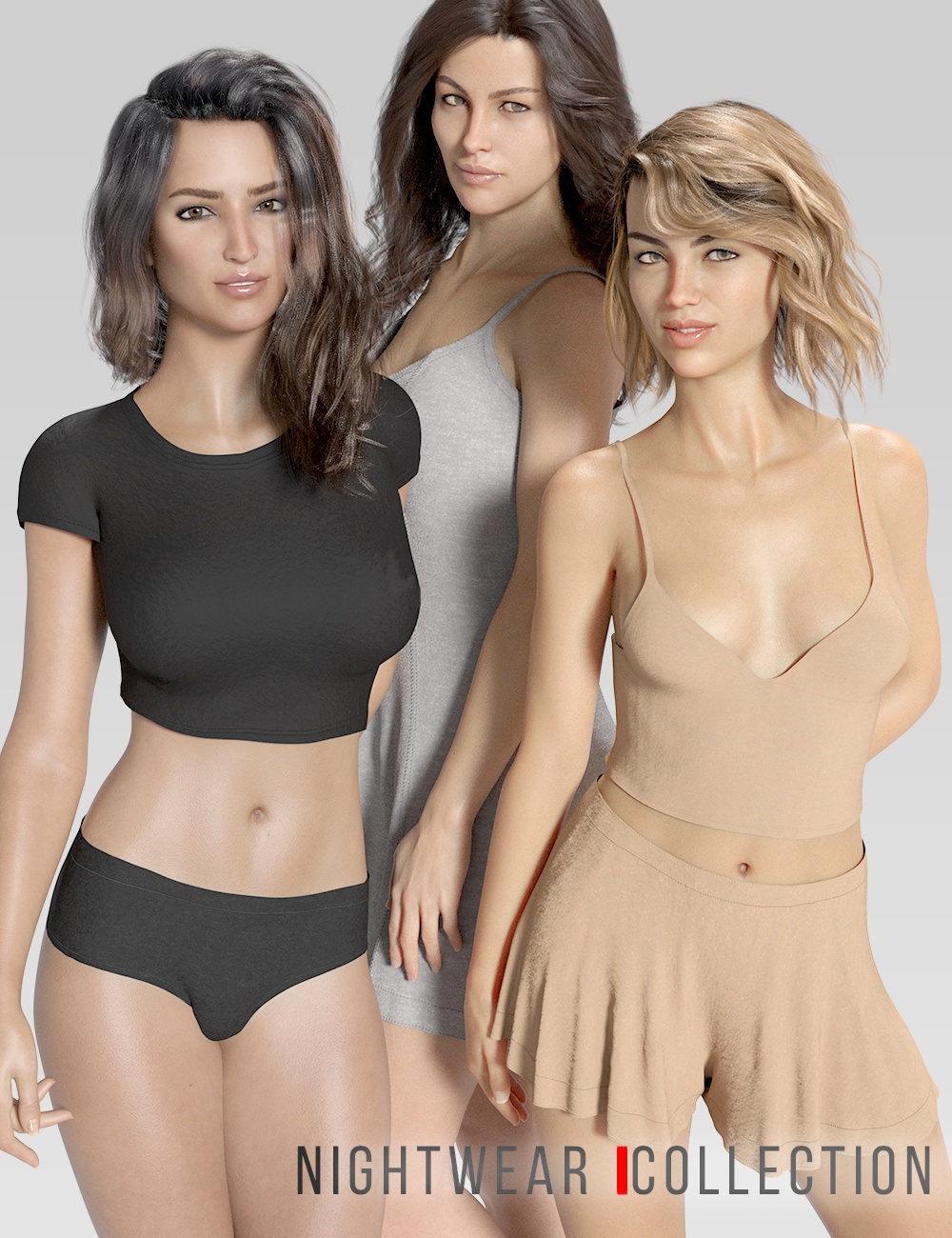 dForce Sterling's Nightwear Collection by: Lyoness, 3D Models by Daz 3D