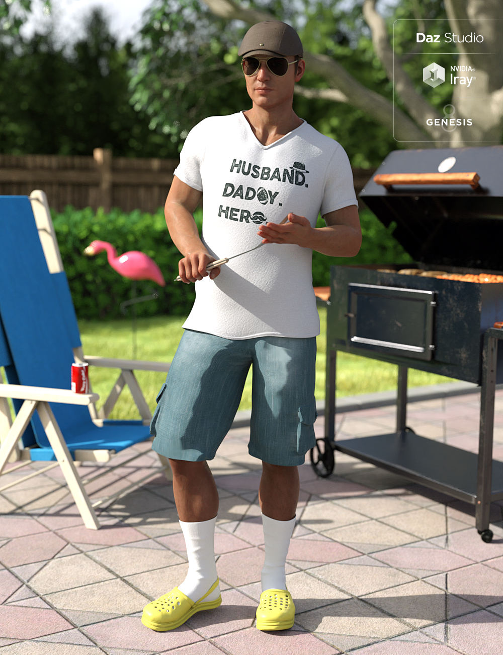 Socks In Krokz Outfit for Genesis 8 Male(s) by: Barbara BrundonMoonscape GraphicsSade, 3D Models by Daz 3D