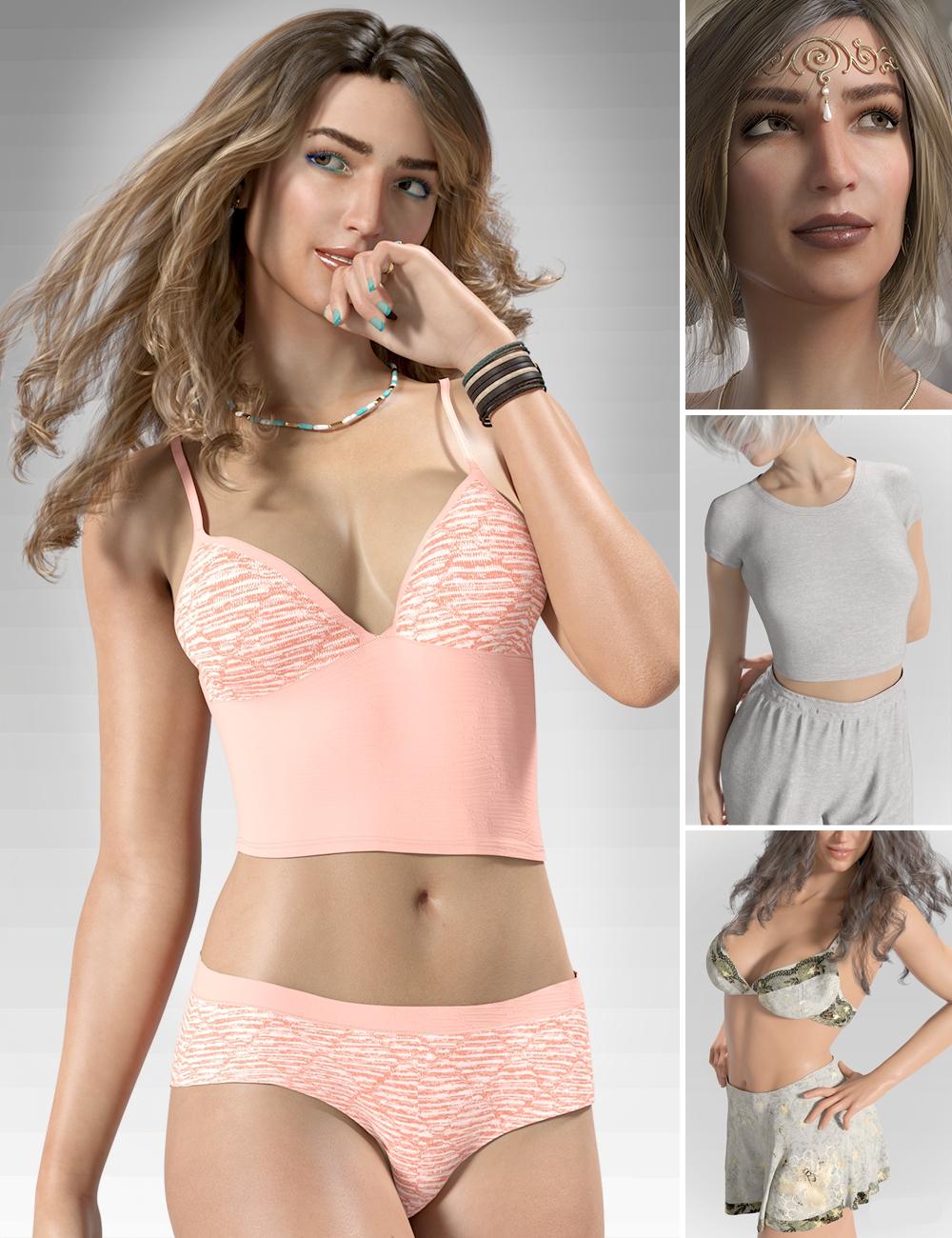Sterling's Nightwear Bundle by: Lyoness, 3D Models by Daz 3D