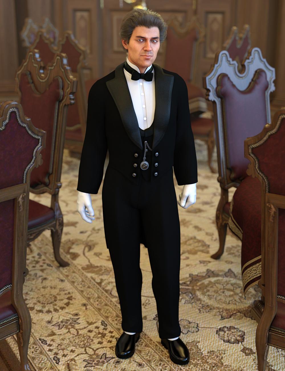 dForce Victorian Butler For Genesis 8 Male(s) by: Ravenhair, 3D Models by Daz 3D