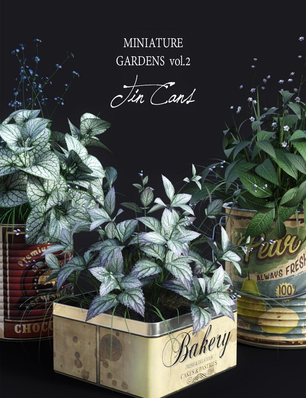 Dgv Miniature Gardens Vol 2 Tincans 3d Models And 3d Software By Daz 3d