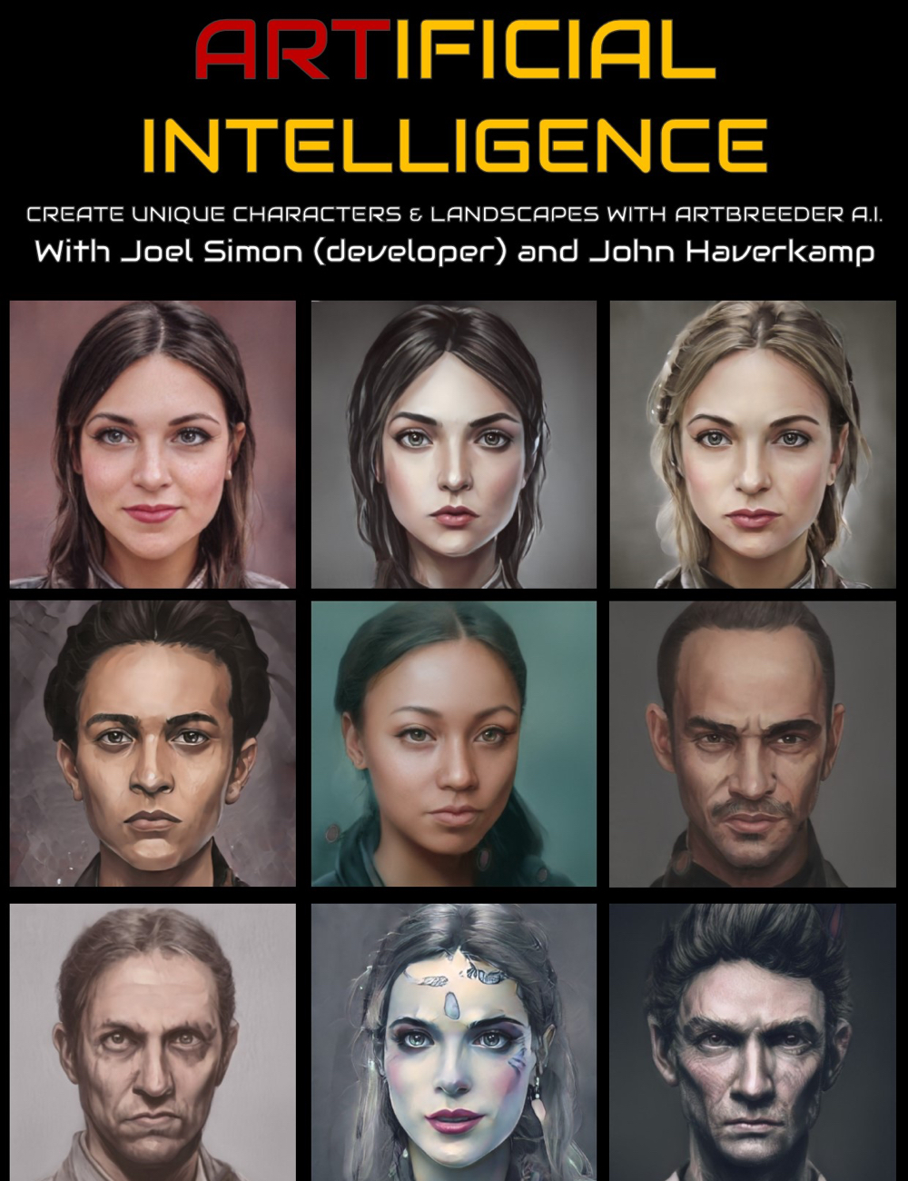 Artbreeder : Generating new Characters with Artificial Intelligence by: Digital Art Livemagbhitu, 3D Models by Daz 3D