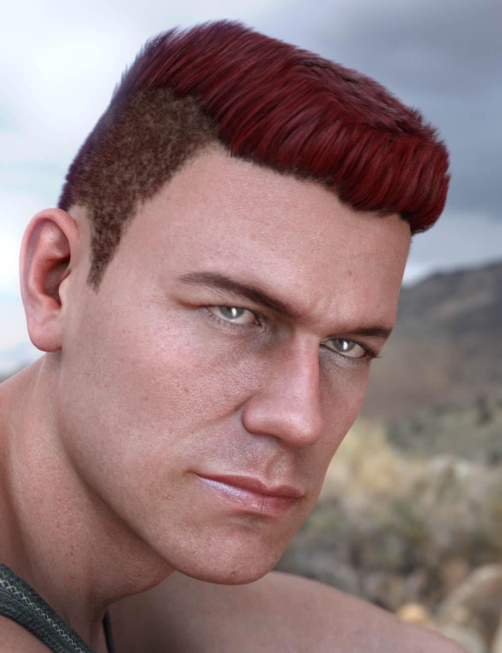 Derek Hair for Genesis 8 and Genesis 3 Male(s) by: 3DCelebrity, 3D Models by Daz 3D