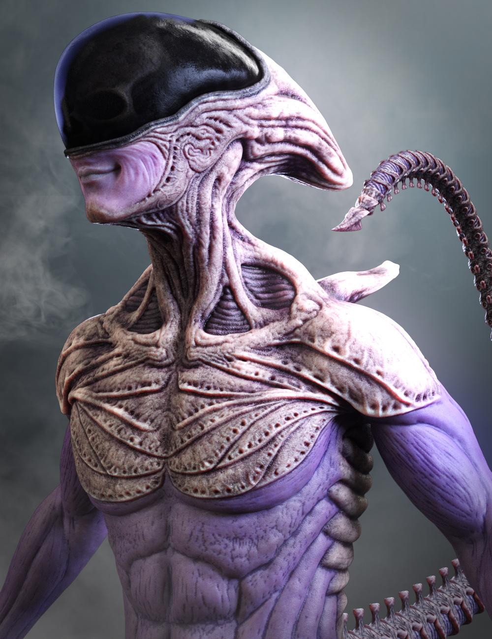 Mysterious Alien HD for Genesis 8 Male by: JoLab1985, 3D Models by Daz 3D