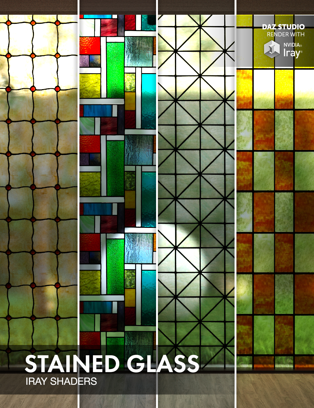 Stained Glass - Iray Shaders by: Dimidrol, 3D Models by Daz 3D