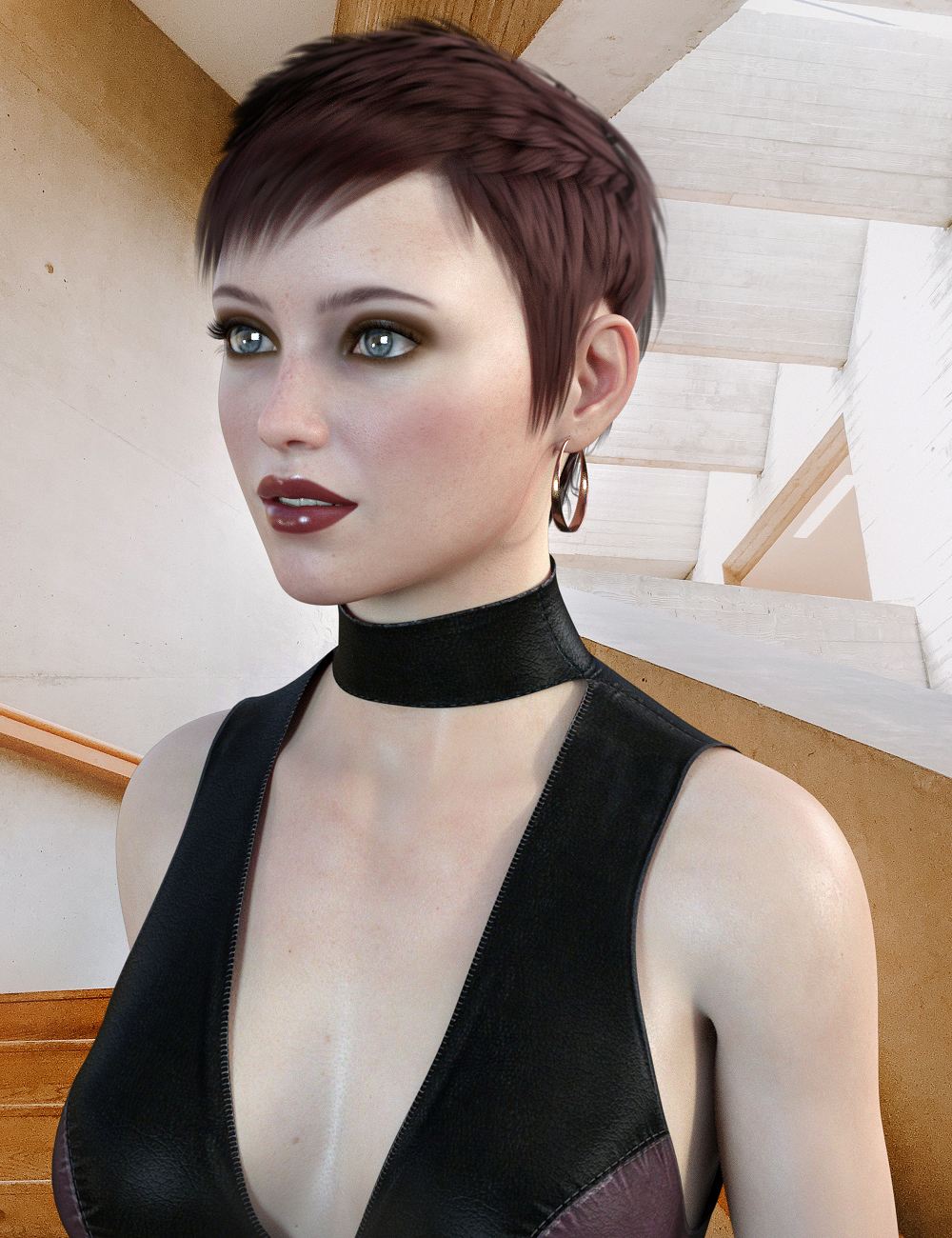 Pippa Hair for CJ 8 by: Propschick, 3D Models by Daz 3D