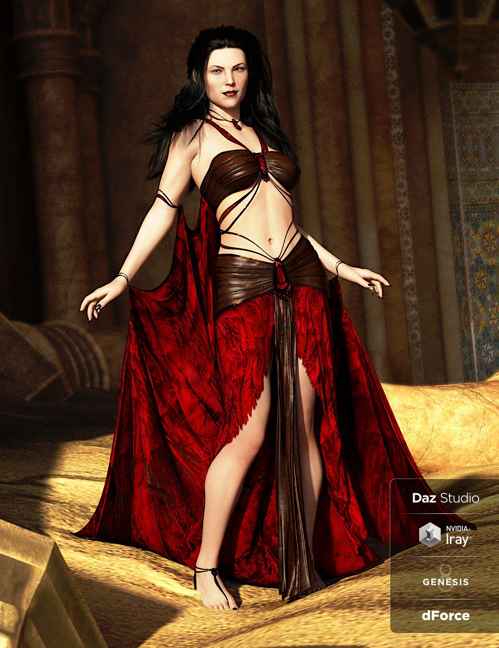dForce Shadowdancer Outfit for Genesis 8 Female(s) by: ArkiShox-Design, 3D Models by Daz 3D