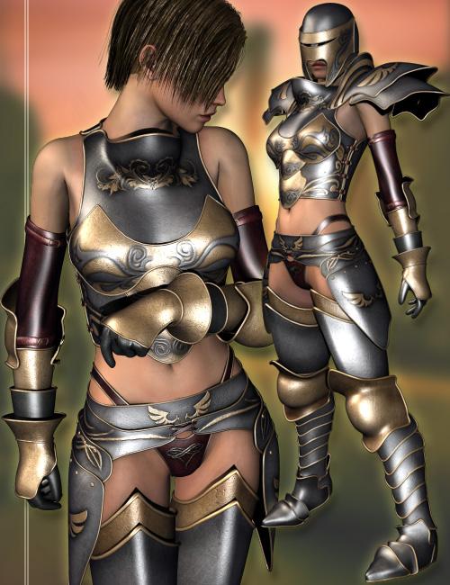 Angeluz Fantasy Armor by: LesthatVal3dart, 3D Models by Daz 3D