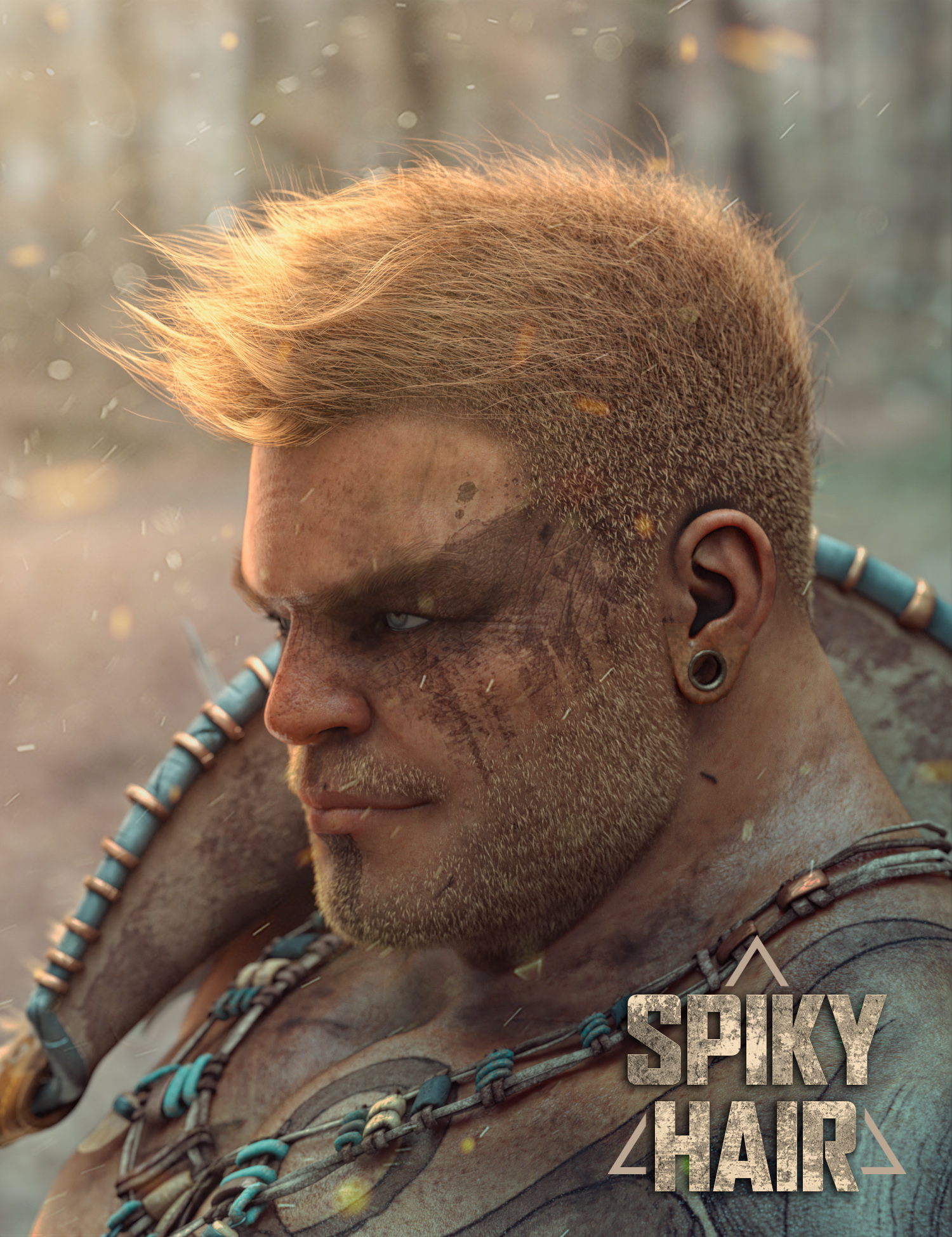 Spiky Hair for Genesis 3 and 8 by: Soto, 3D Models by Daz 3D