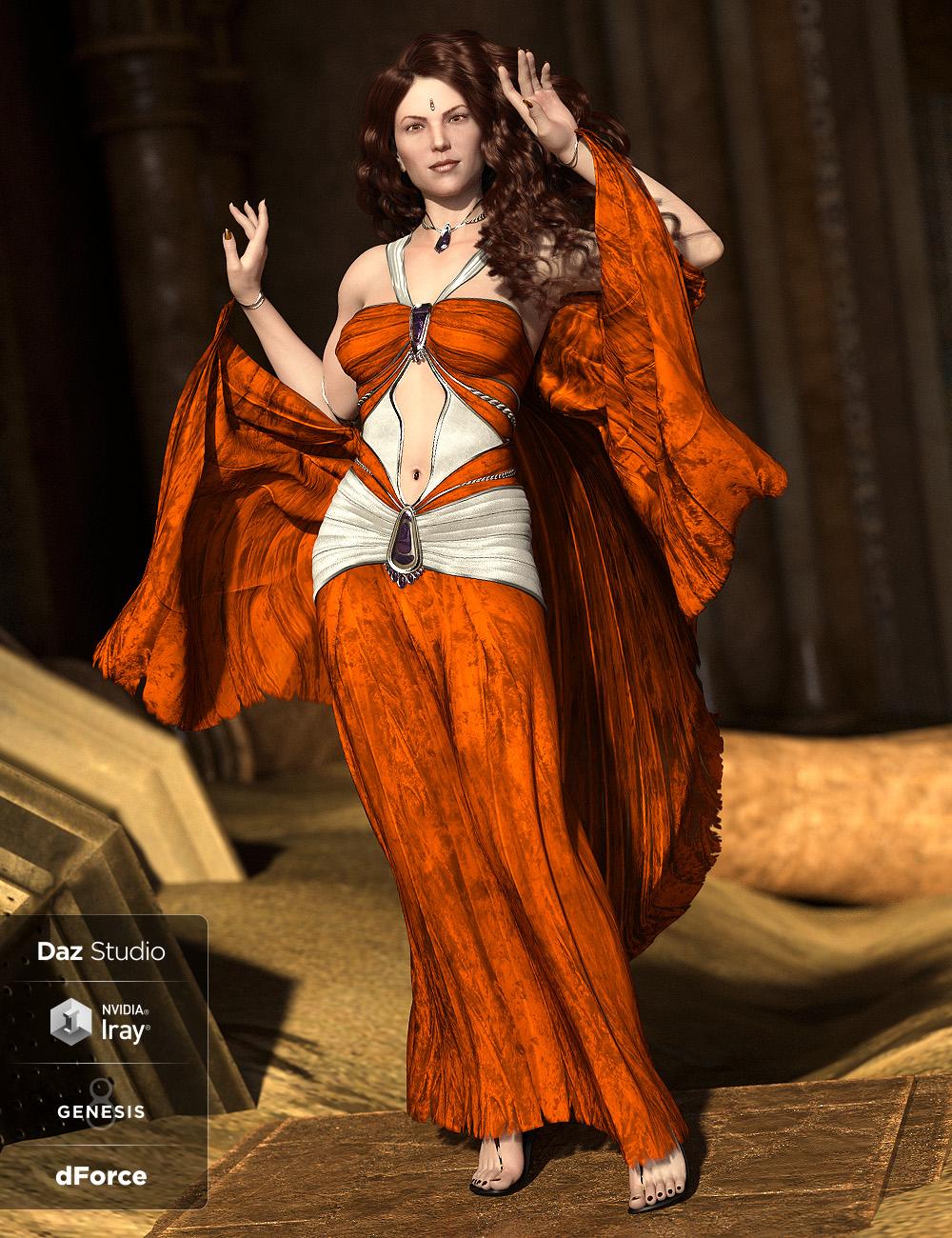 dForce Shadowdancer Addon for Genesis 8 Female(s) by: ArkiShox-Design, 3D Models by Daz 3D