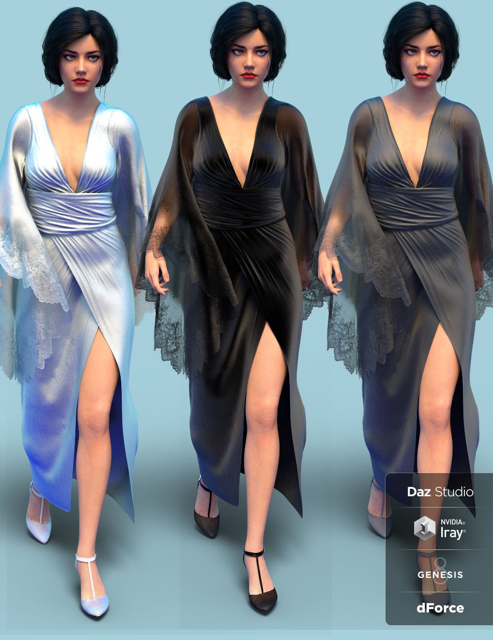 dForce Vanzzak Outfit for Genesis 8 Female(s) by: chungdan, 3D Models by Daz 3D