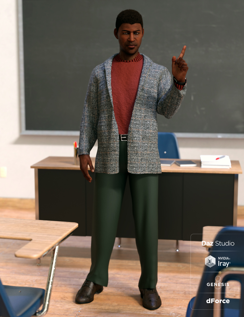 dForce Hudson Outfit for Genesis 8 Male(s) by: Barbara BrundonMoonscape GraphicsSade, 3D Models by Daz 3D