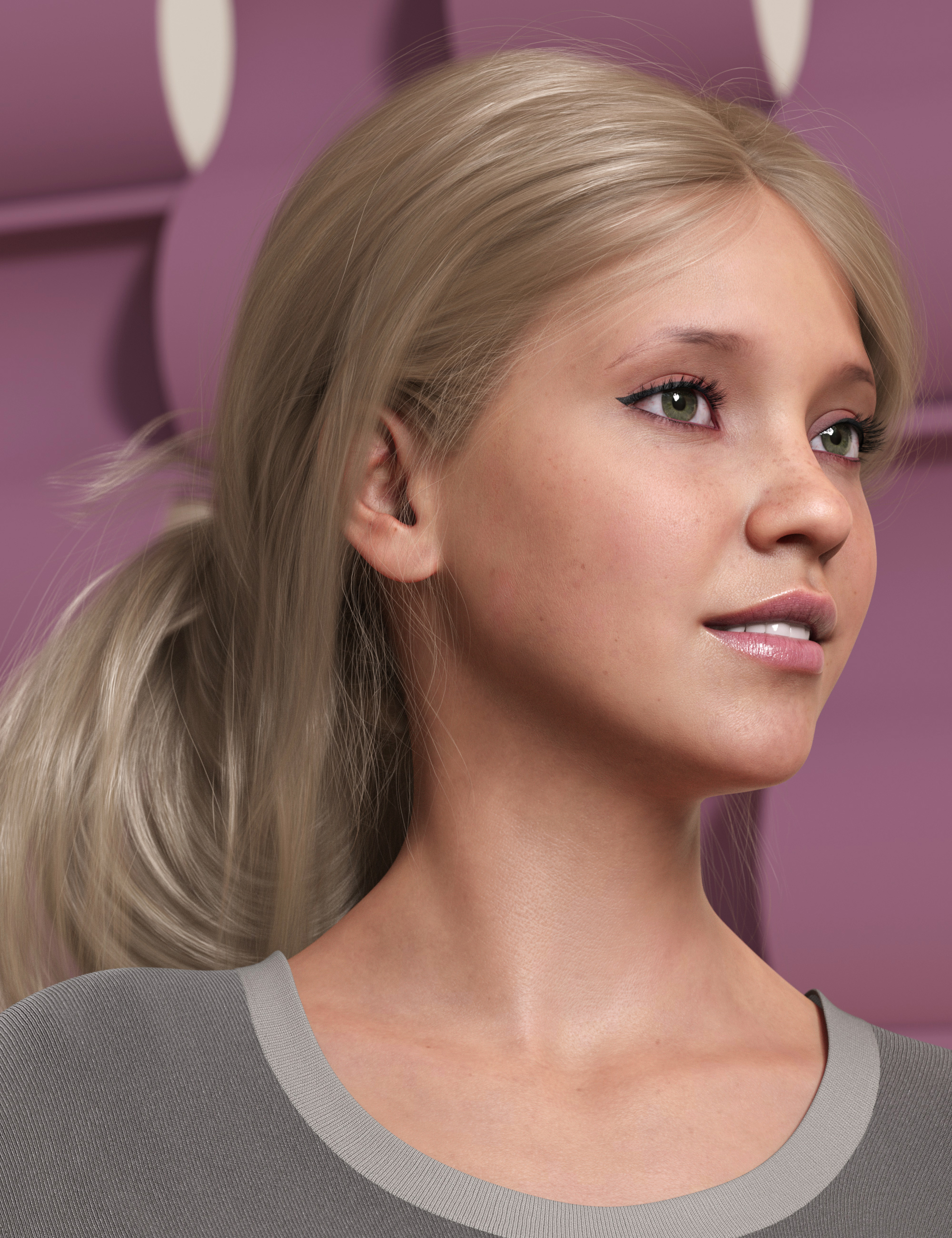Wild Loop Tail Hair for Genesis 3 and 8 Female(s) and Male(s) by: outoftouch, 3D Models by Daz 3D