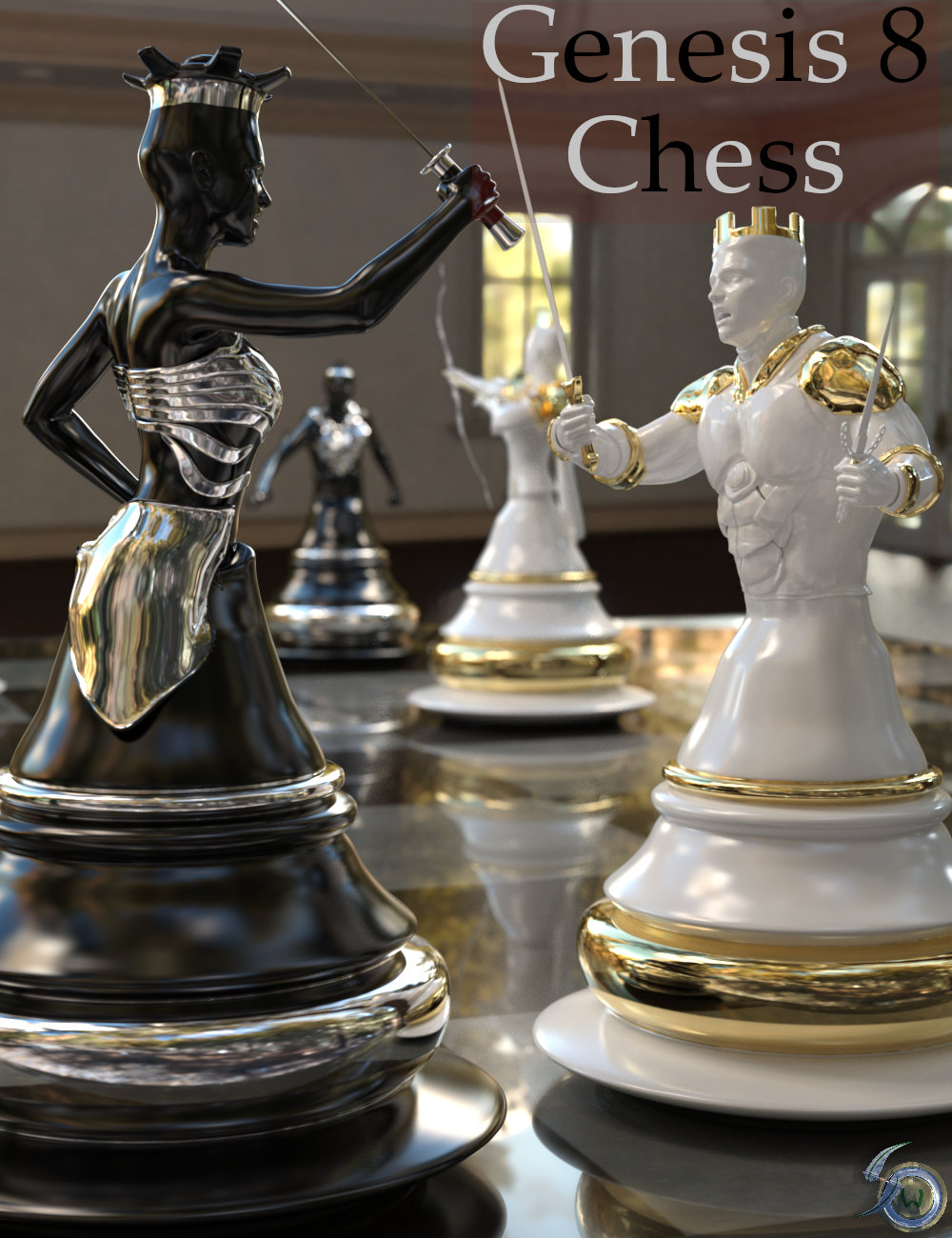 Chess for Genesis 8 by: Silent Winter, 3D Models by Daz 3D